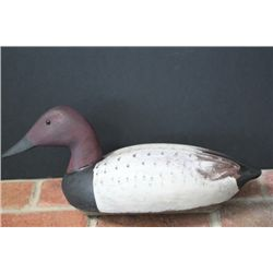 Carved Repaint Duck Decoy with Markings on the bottom, Erie PA