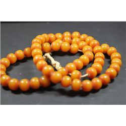 "34"" Total Length Amber Necklace"
