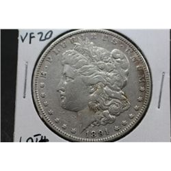 1891 Morgan Silver Dollar VF-20
