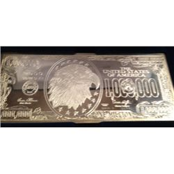 .999 PURE SILVER 4 0Z 1 MILLION DOLLAR NOTE