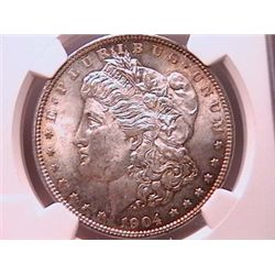 1904-O Morgan Dollar MS63 NGC