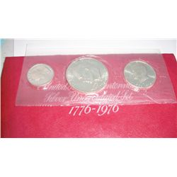 1976 3 Pc Mint Uncirculated Silver Set
