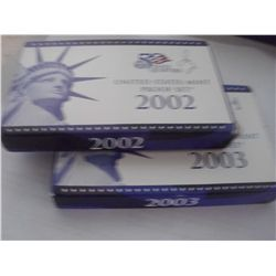 2002 and 2003 Mint Proof Sets