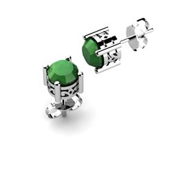 Emerald 0.96ctw Earring 14kt White Gold