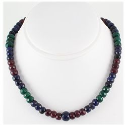 340.33ct Natural Multi-Color Rondelles Necklace
