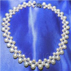 16 Inch Siopao Pearl Necklace Silver Peach Philippines