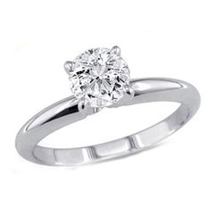 1.00 ct Round cut Diamond Solitaire Ring, G-H, I
