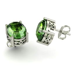 Tourmaline 5.80ctw Earring 14kt White Gold