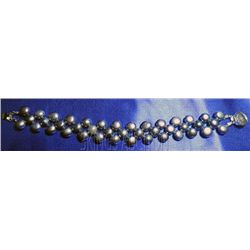 7 Inch Siopao Pearl Bracelet Black Philippines