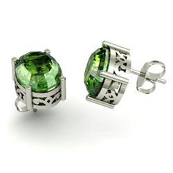 Tourmaline 4.60ctw Earring 14kt White Gold