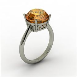 Citrine 3.30 ctw Ring 14kt White Gold