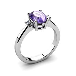 Tanzanite 1.35 ctw Diamond Ring 14kt White Gold