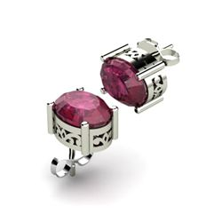 Ruby 3.10ctw Earring 14kt White Gold