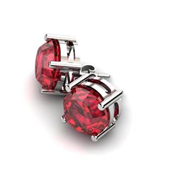 Garnet 11.50ctw Earring 14kt White Gold