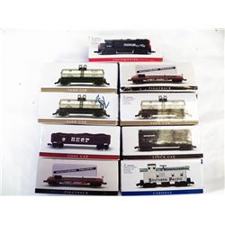 9 Boxed Small Train Cars  Not Electric train cars