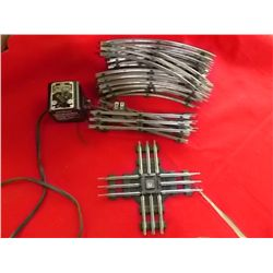 O Size Train track and Marx transformer 11 curves 3 straight 1 four way