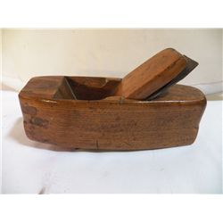 "Vintage Wood Plane 8 1/4 Long x 4 1/2"" Overall Ht."
