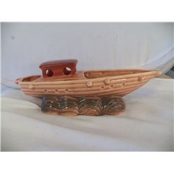 "USA Pottery #885 Boat Planter 13"" long x 4"" height"