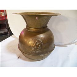 "Brass Spittoon Pony Express 9"" round H91/2"" Chewing Tobacco"