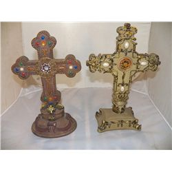 "2-Decorative Crosses x 8"" x 12"""