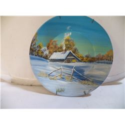 Signed Hand Painted Pan by Karen Stuart Brown Karen takes pride in the finished product, so  each pa