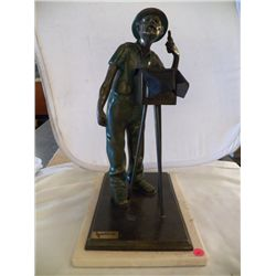 "Bronze Named and numbered Statue of Photographer 153/2000 made in 1992 B ase 10"" wide x 18""  Tall x"