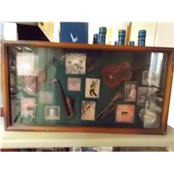 """Musical Collage In Wood Case approx 20""""x11"""""""