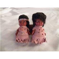 "Pair of  Indian Dolls approx 4"" tall"