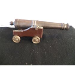 "Brass Mini Cannon 8"" long H3 1/4"""