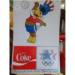 1984 Coke Olympic 2-sided poster 32 x 22 inches