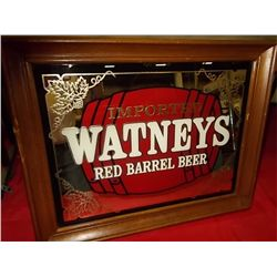 "Imported WATNEYS Red Barrel Mirror 18""x 14"""