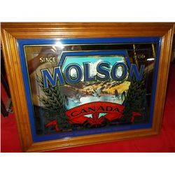 "Molson Imported From Canada Beer Ale Bar Mirror approx 20""x 16"""