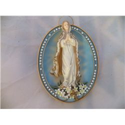 "Our Lady of Hope plate First issue in Visions of Our Blessed Mother  From the Bradley Exchange 5"" x"