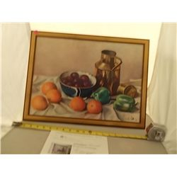 Oil on Board by Henk Bos Henk Bos Still Life Litho. Print