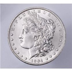 1904 o Morgan Silver Dollar UNC