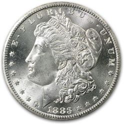 1883 O BU Morgan Dollar