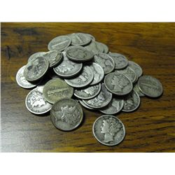Mercury Dime Lot (50)