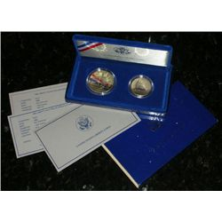 1986 Statue Of Liberty Proof Set (2 coin)