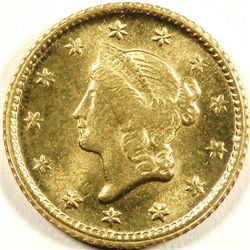 Early Date $ 1 Liberty Us Gold Coin - VG-XF