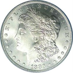 1883 o BU Morgan Silver Dollar