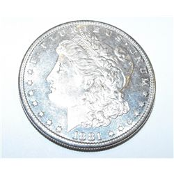 1881 O BU Morgan Silver Dollar