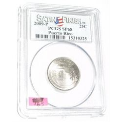 2009-P *PUERTO RICO* Territory Quarter RED BOOK VALUE IS $35.00 *CERTIFIED BY PCGS SATIN FINISH SP68