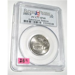 2009-P *AMERICAN SAMOA* Territory Quarter RED BOOK VALUE IS $40.00 *CERTIFIED BY PCGS SATIN FINISH S