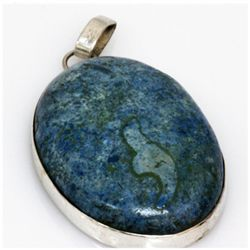 Natural 155.72 ctw Semi Precious .925 Sterling Pendant