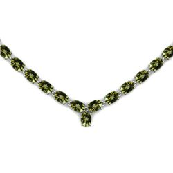 NATURAL 22.00 CTW PERIDOT NECKLACE .925 STERLING SILVER