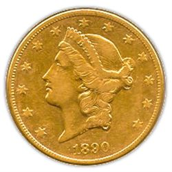 Early Gold Bullion $20 Liberty Extra Fine