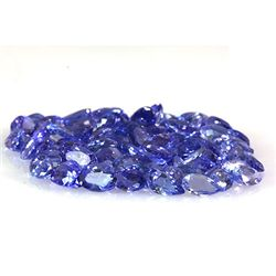 Natural Tanzanite Zoisite Oval-Pear Cut 83pcs 22.10 ctw