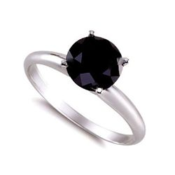 Genuine Black Diamond 1.0 ctw Ring 14K W/Y Gold