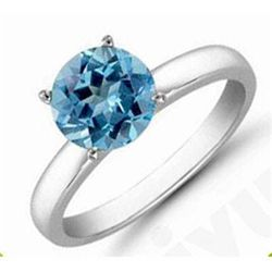 Topaz 1.36 ctw Solitaire Ring 14kt W/Y Gold