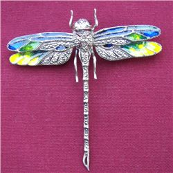 Sterling Dragon Fly Broach